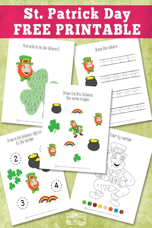 Free Printable St. Patrick's Day Printable Pack