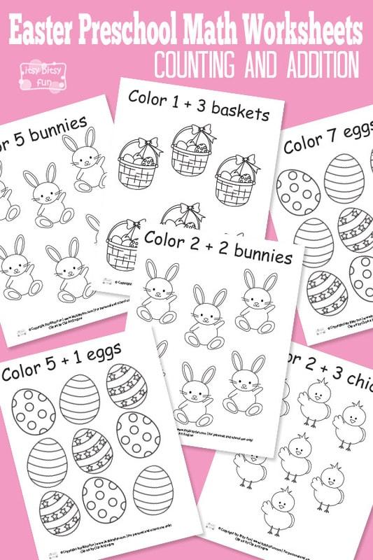 Free Printables Easter Preschool Math Worksheets
