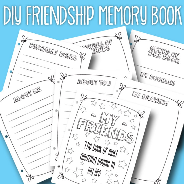 Free Pritnable Friendship Book