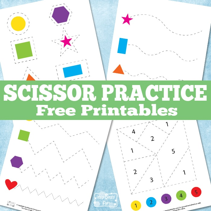 Free Scissor Practice Printables for Kids