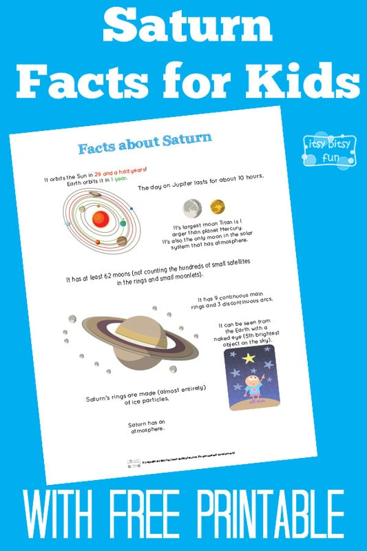 Fun Planet Saturn Facts for Kids