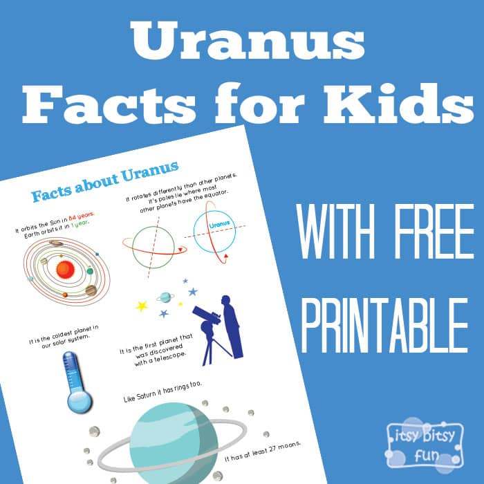 Fun Planet Uranus Facts Printable for Kids