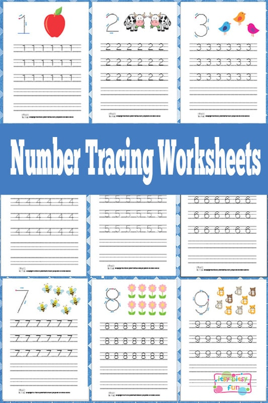 Number Tracing Worksheets Free Printable - Itsy Bitsy Fun