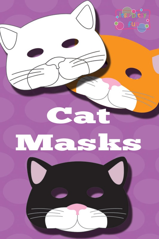 Printable Cat Mask & Template to Color