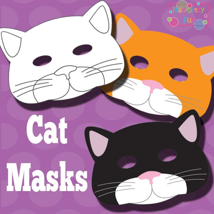 caterpillar mask template - printable cat mask and template to color itsy bitsy fun