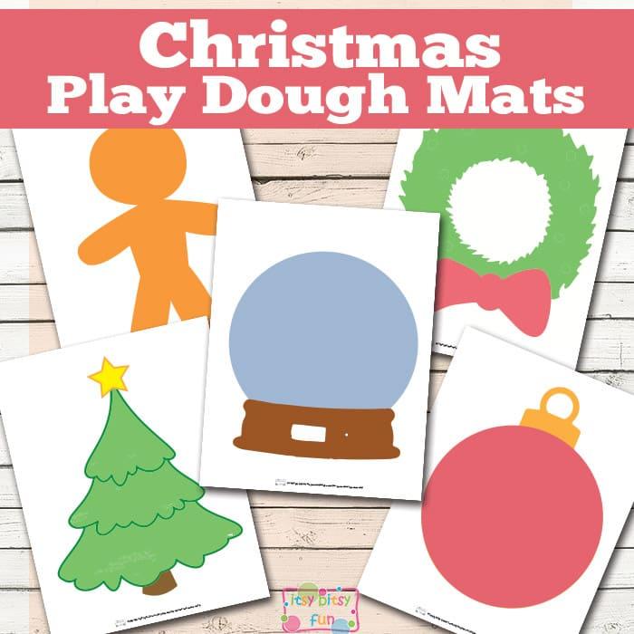 Printable Christmas Play Dough Mats