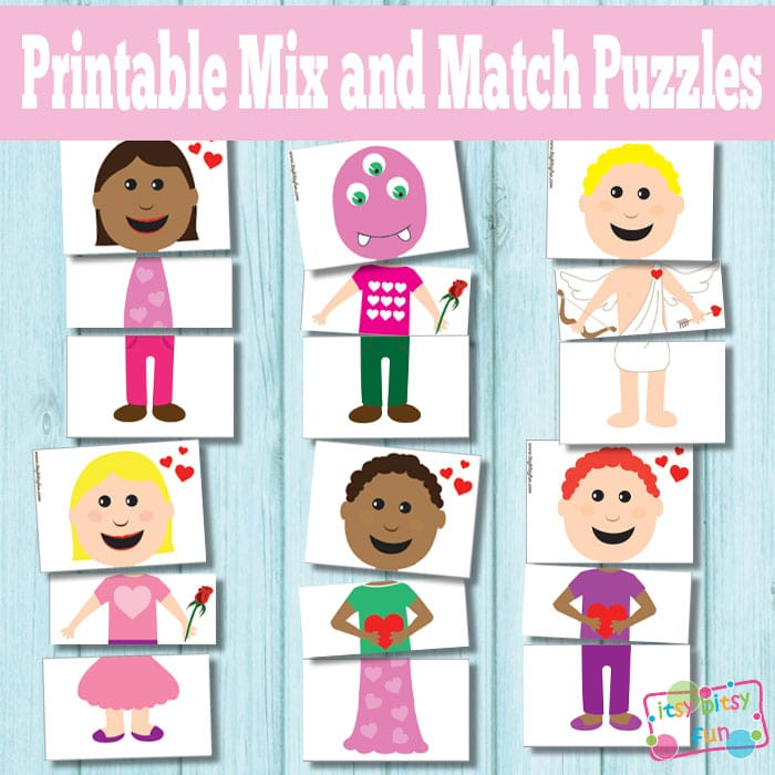 Printable Valentines Day Puzzles