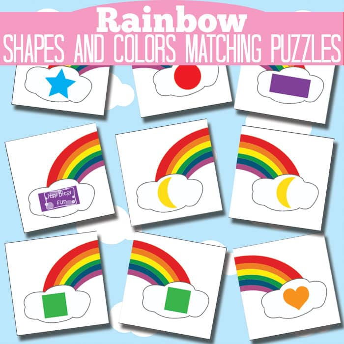 Rainbow Shape and Color Matching Puzzles