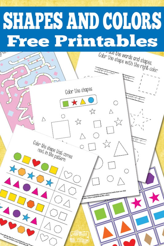 Shapes and Colors Printables Worksheets