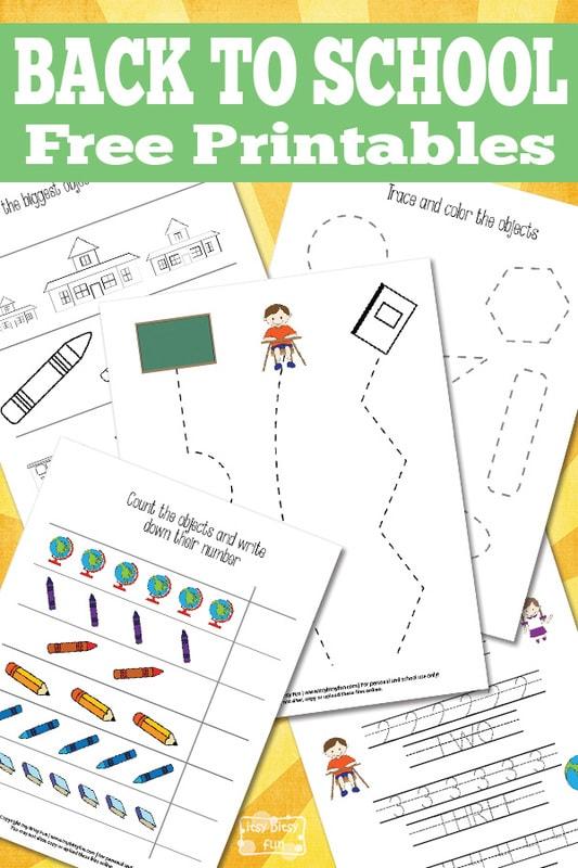 Simple back to school printables