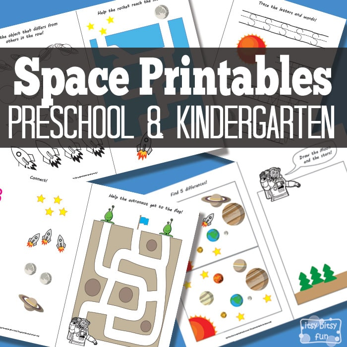 Space Activity Sheets Printables for Kids