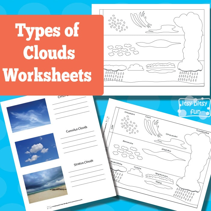 Worksheets Types Of Clouds Worksheet types of clouds worksheets itsy bitsy fun free worksheets
