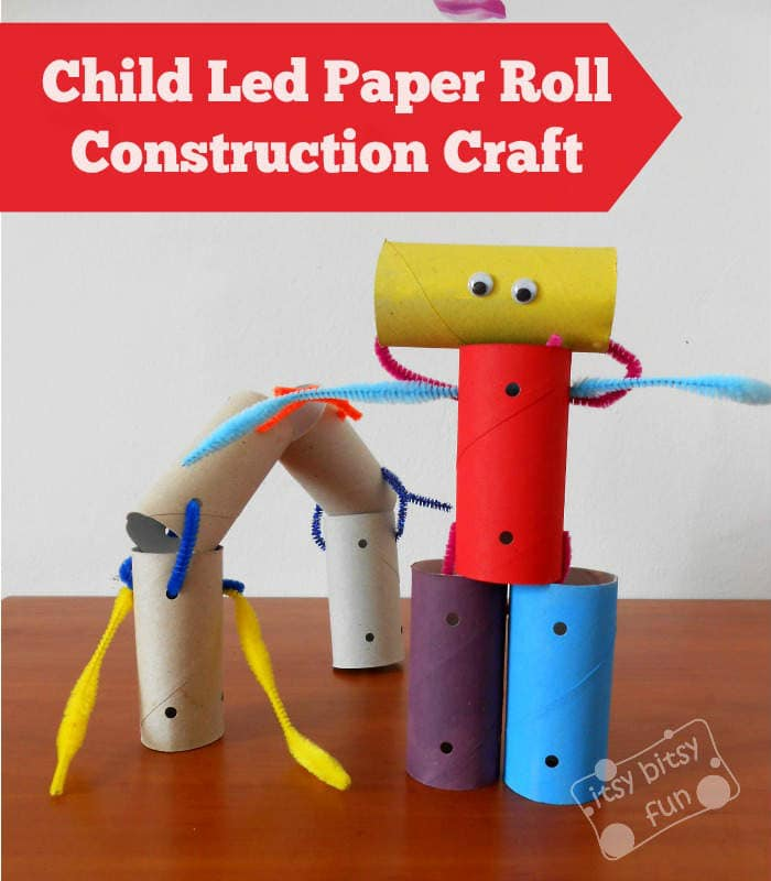 Child Led Toilet Paper Roll Construction Craft