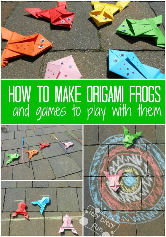 How to fold EASY ORIGAMI JUMPING FROGS. This jumping frog is the ... | 800x560
