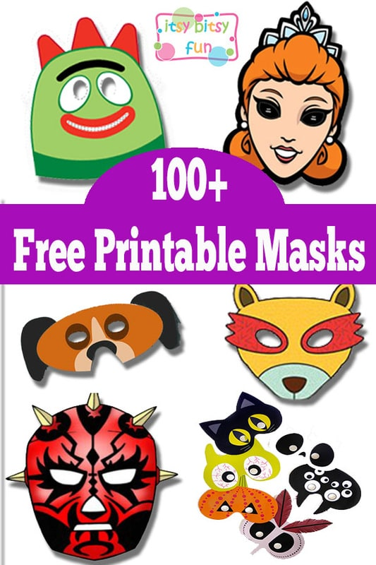 image regarding Printable Masks for Kids titled Above 100 Absolutely free Printable Masks for Young children - Itsy Bitsy Entertaining