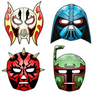 photograph regarding Star Wars Printable Masks identified as Previously mentioned 100 Absolutely free Printable Masks for Little ones - Itsy Bitsy Exciting