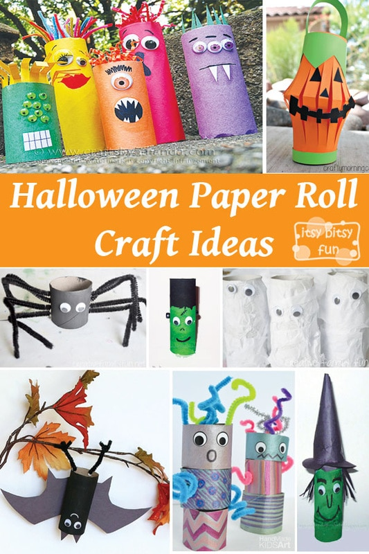 Spooky Halloween Toilet Paper Roll Crafts Itsy Bitsy Fun