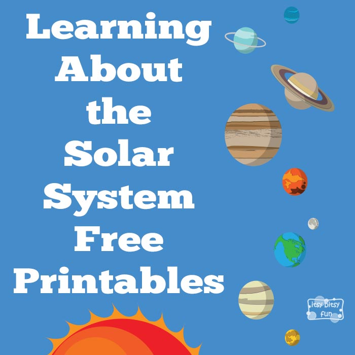 Learning About Solar System Part One - Itsy Bitsy Fun