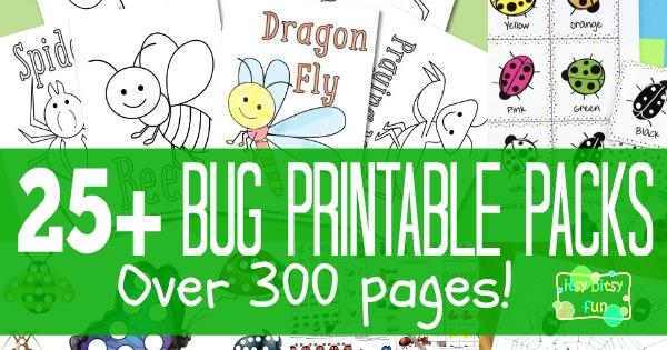 Bug Printables for Kids