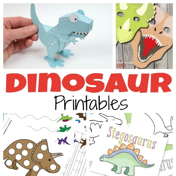 A Ton of Free Dinosaur Printables for Kids - Itsy Bitsy Fun