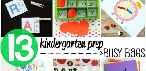 Kindergarten Prep Busy Bags