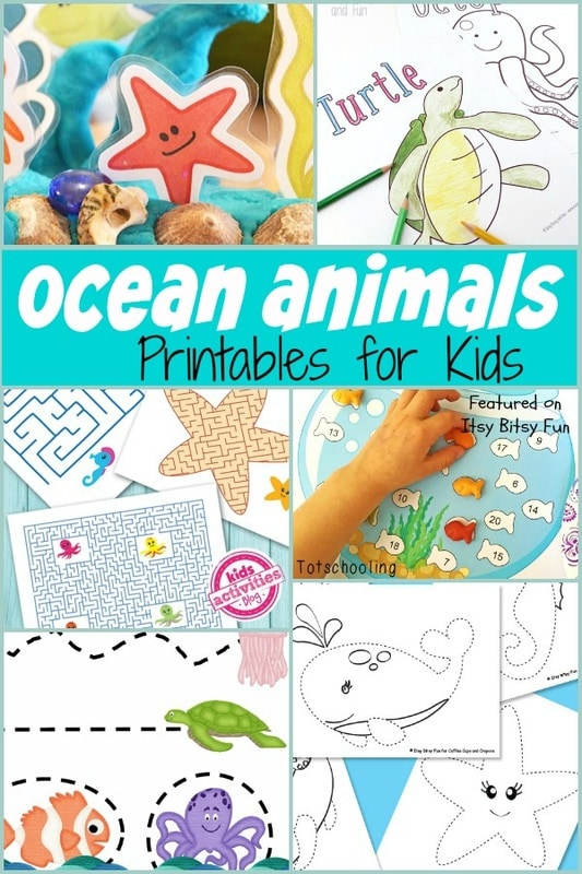 Sweet Ocean Animal Free Printables