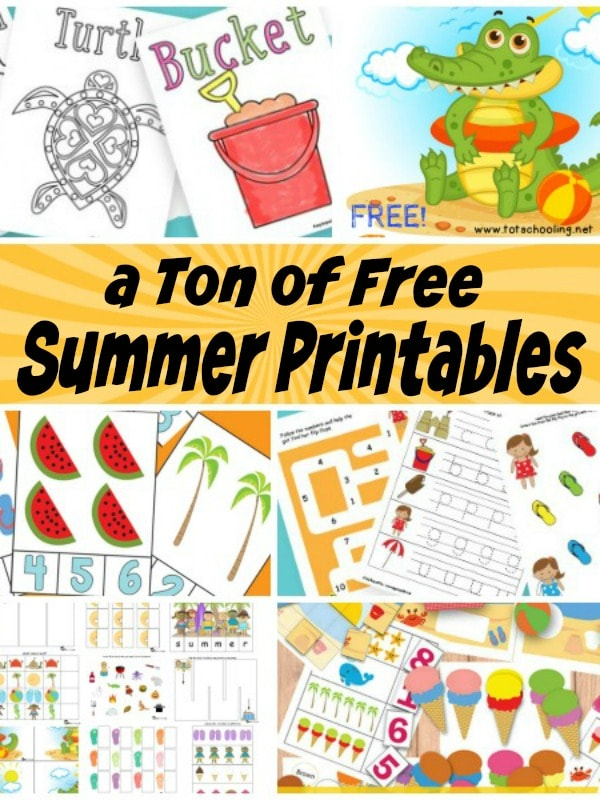 It is a photo of Impeccable Free Summer Printables