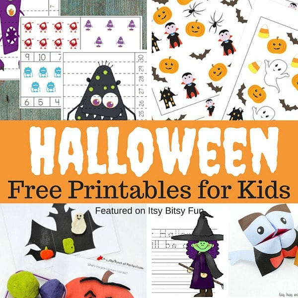 Free Printable Halloween Worksheets and More Itsy Bitsy Fun – Halloween Worksheets Printables
