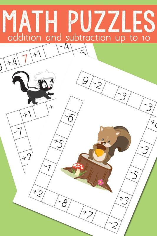 Math Crossword Puzzles