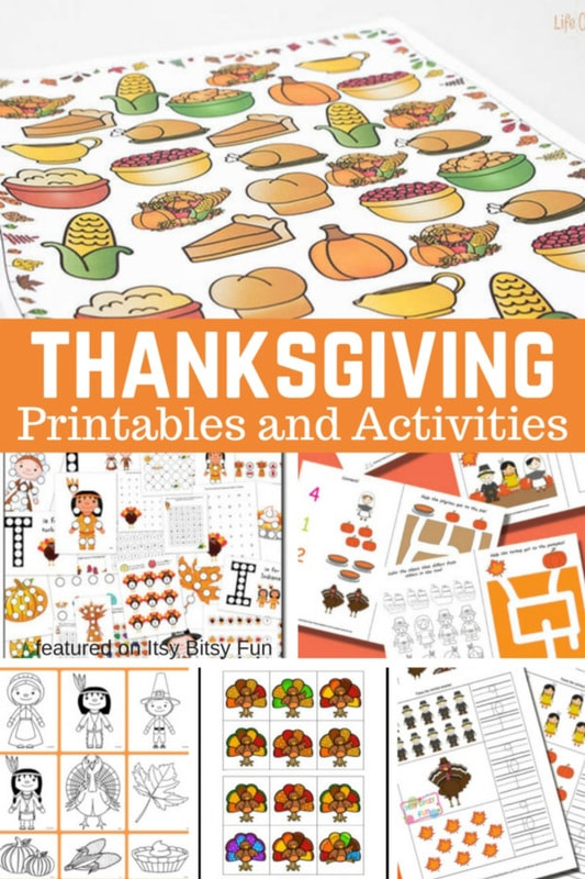 Thanksgiving Free Printables and Activities