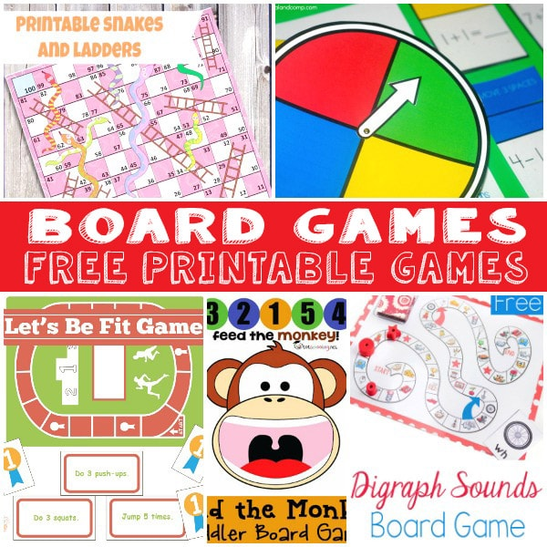 Fun And Free Printable Board Games on Abc For Preschoolers Worksheets