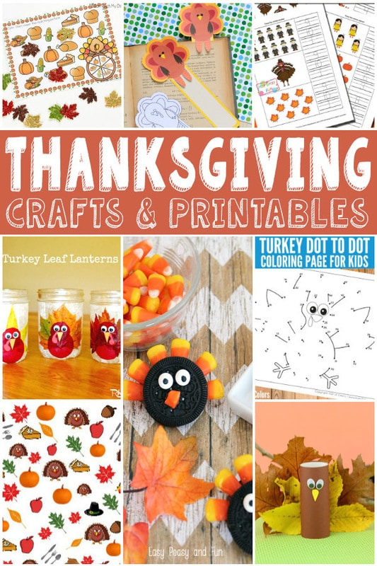 Thanksgiving Crafts and Printables