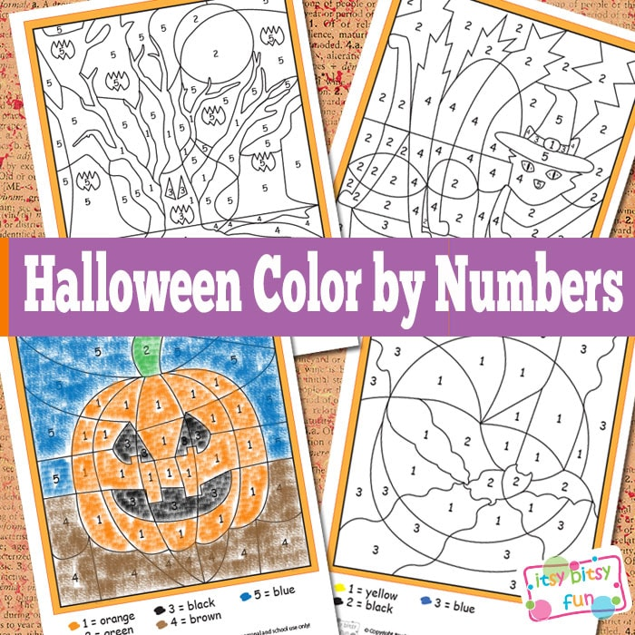 Halloween Color by Numbers