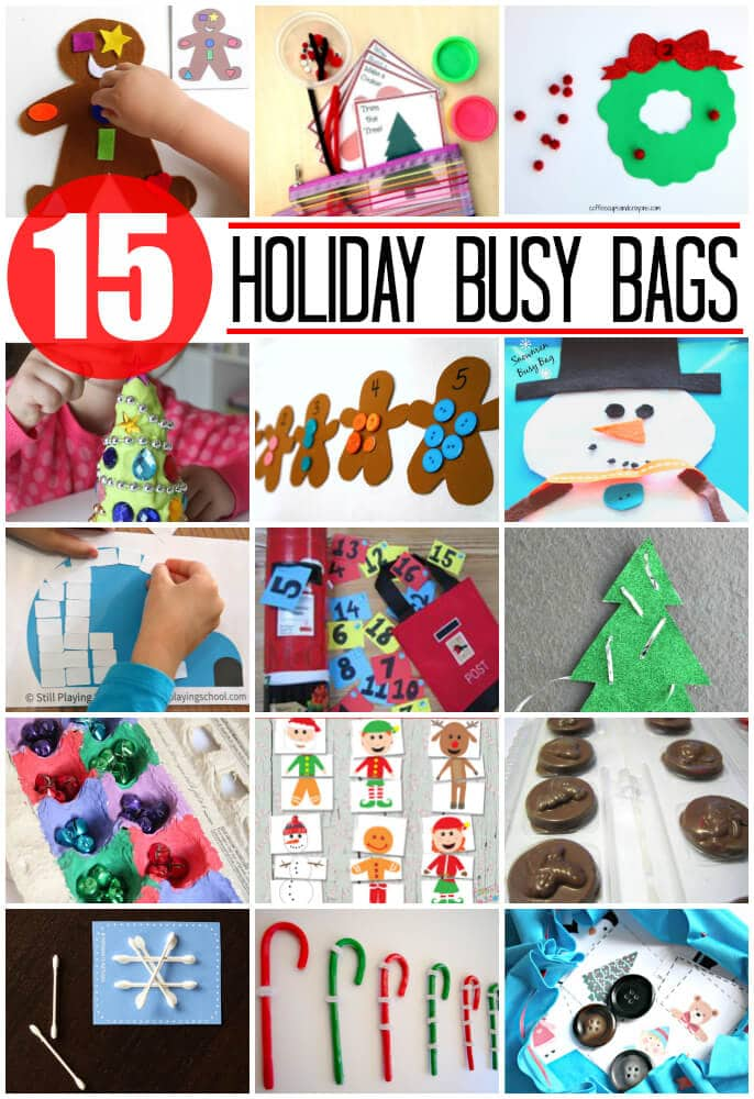 15 Awesome Holiday Busy Bags for Kids