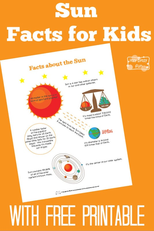 Fun sun facts for kids itsy bitsy fun for Solar energy information for students