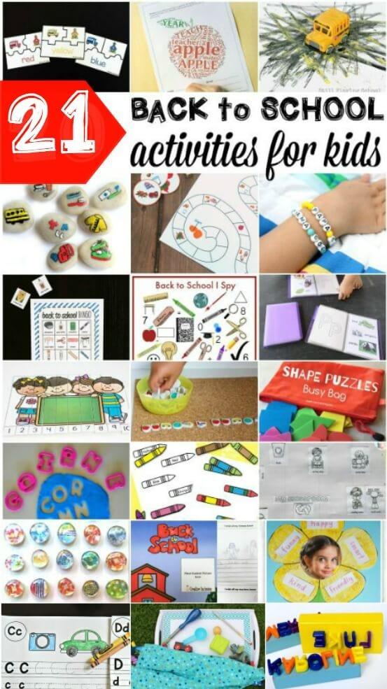 21 Back to School Activities for Kids