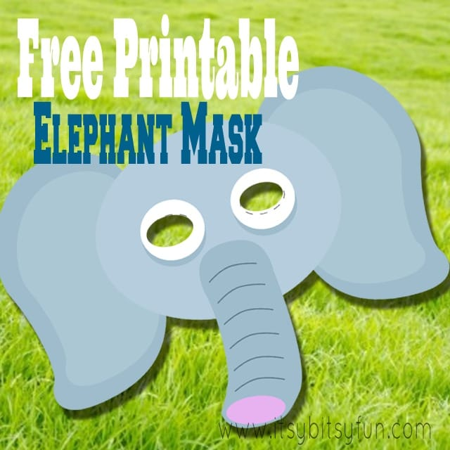 photo about Elephant Template Printable referred to as Totally free Printable Elephant Mask Template - Itsy Bitsy Enjoyable
