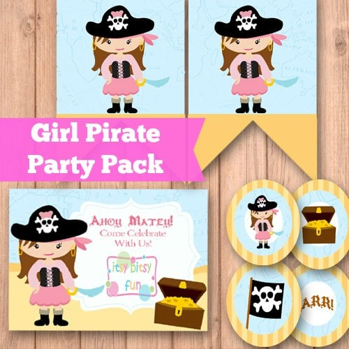 Pink Pirate Party Supplies