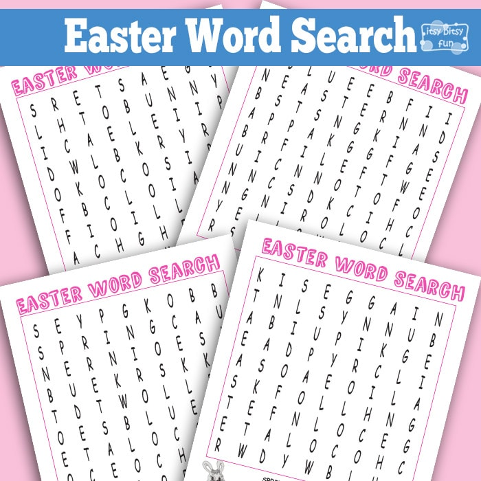 Easter Word Search Puzzles