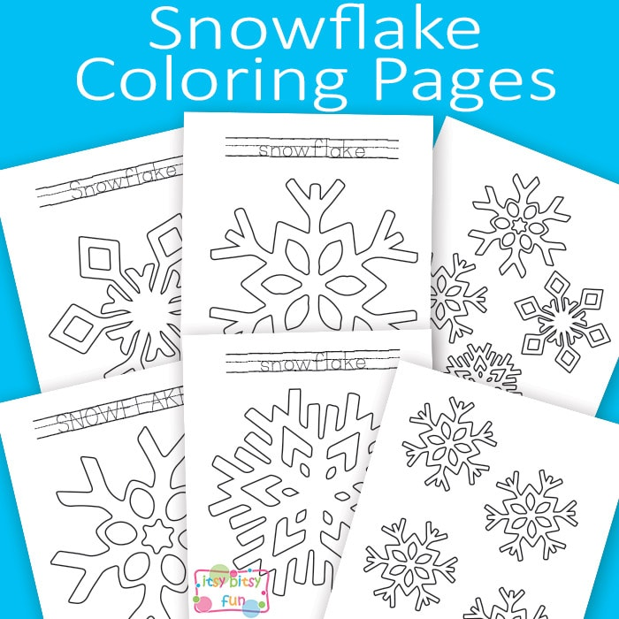 Snowflake Coloring Pages Itsy Bitsy Fun