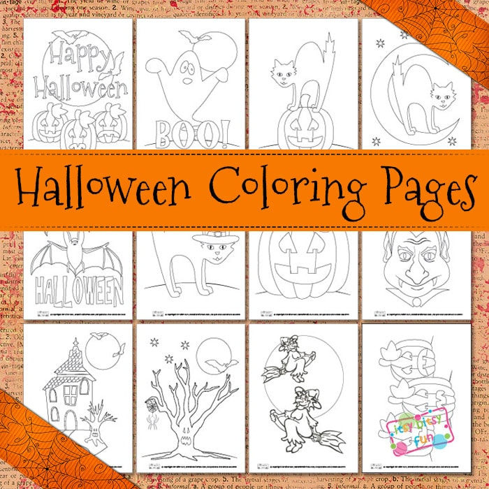 Halloween Coloring Pages - Itsybitsyfun.com