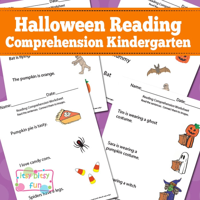 Printable Worksheets halloween worksheets kindergarten : Halloween Reading Comprehension Worksheets for Kindergarten - Itsy ...