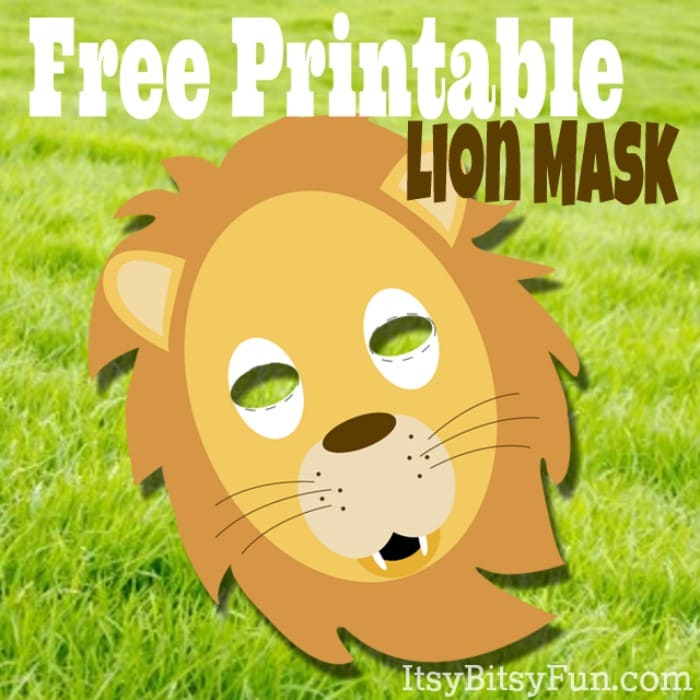 picture relating to Free Printable Masks Templates referred to as Printable Lion Masks Template (free of charge) - Itsy Bitsy Pleasurable