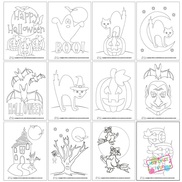 free printable halloween coloring pages - Free Printables For Toddlers