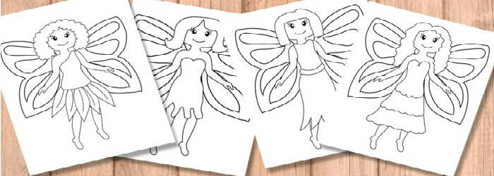 Fairy Coloring Pages Itsybitsyfun Com