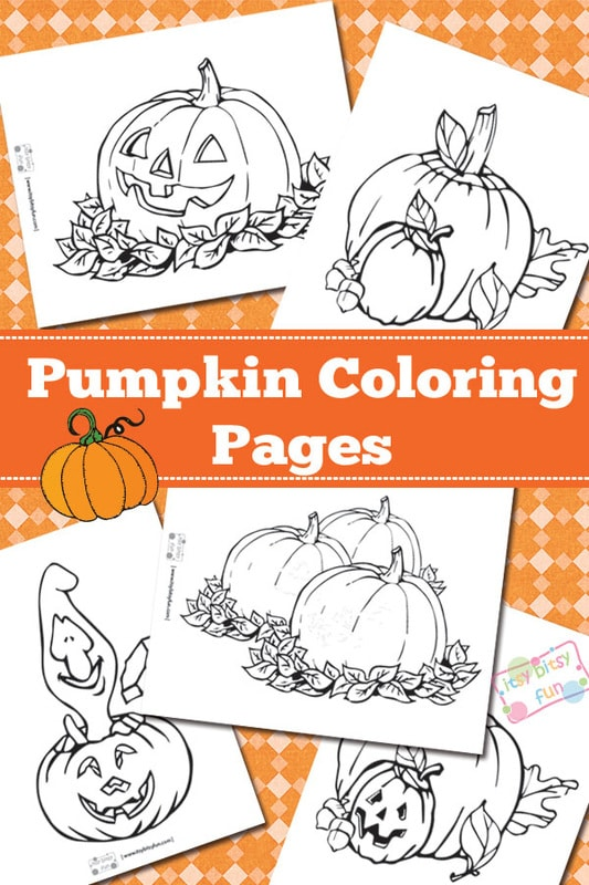 Pumpkin Coloring Pages Itsy Bitsy Fun