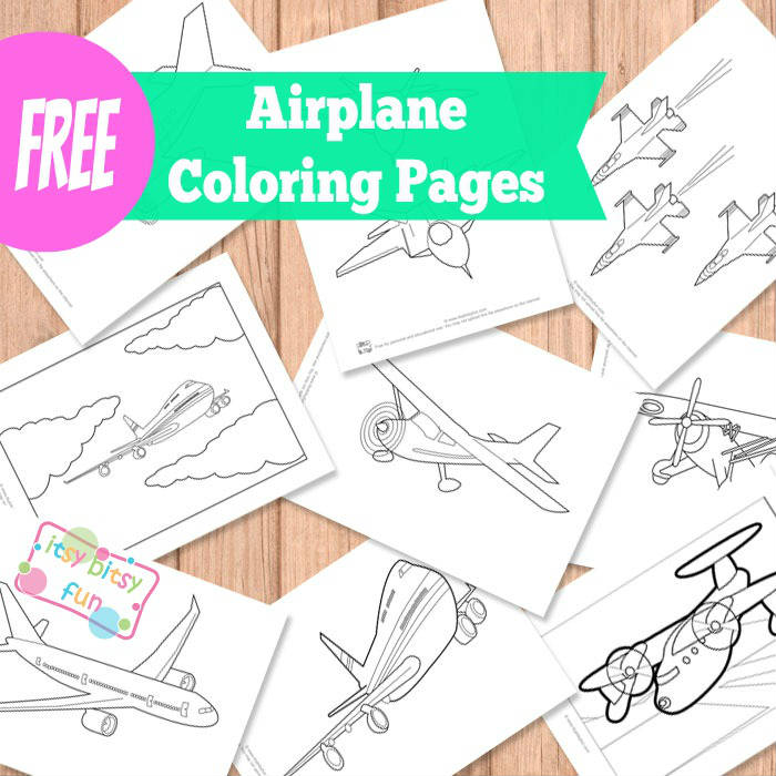 Airplane Coloring Pages Itsybitsyfun Com
