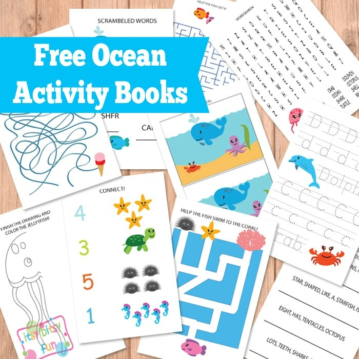 ocean animals activity books - Kids Activity Book Printable