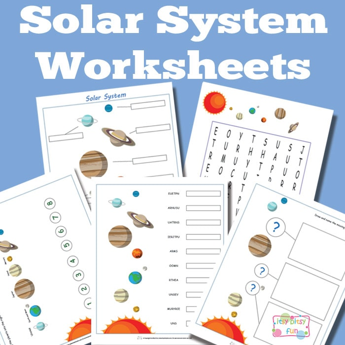 Solar System Worksheets for Kids Itsy Bitsy Fun – Solar System Worksheets