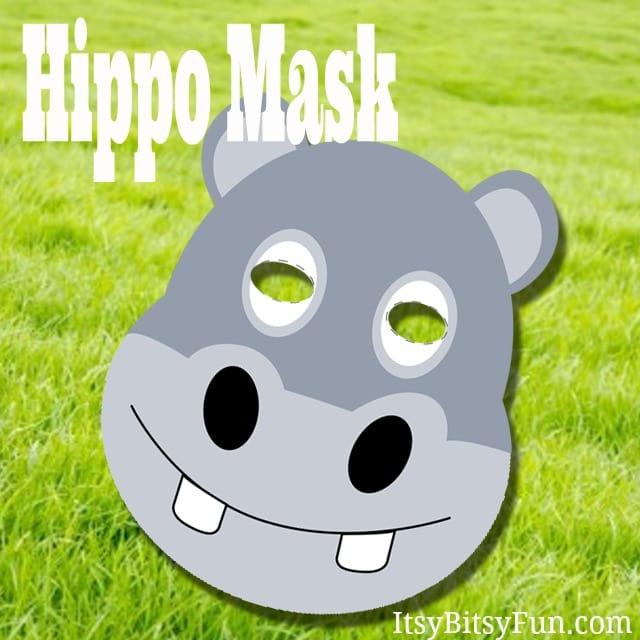 Printable Hippopotamus Masks Templates (free)